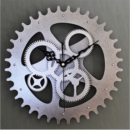 2014-Europe-Vintage-Large-Creative-Decorative-Gears-Wall-Clock-Metallic-Watch-Wall-Silver-Color-Whosale-Retail